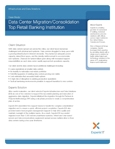 Data Center Migration/Consolidation: Top Retail Banking Institution