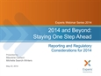 2014 Technical Accounting and Financial Reporting Update