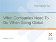 International Tax: What companies need to do when going global